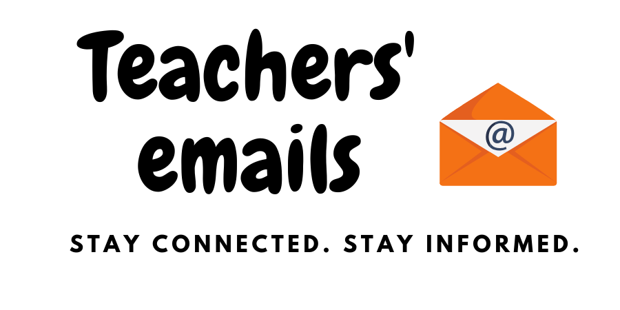 If you need to reach out to your student's teacher, here is their email.