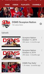 DSMS Scorpion Nation YouTube Channel