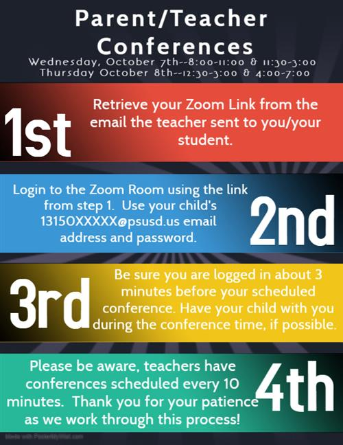 Parent Teacher Conference Checklist