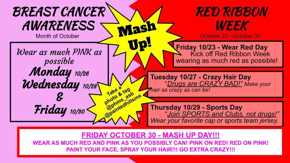 Breast Cancer Awareness & Red Ribbon Week Mash Up!