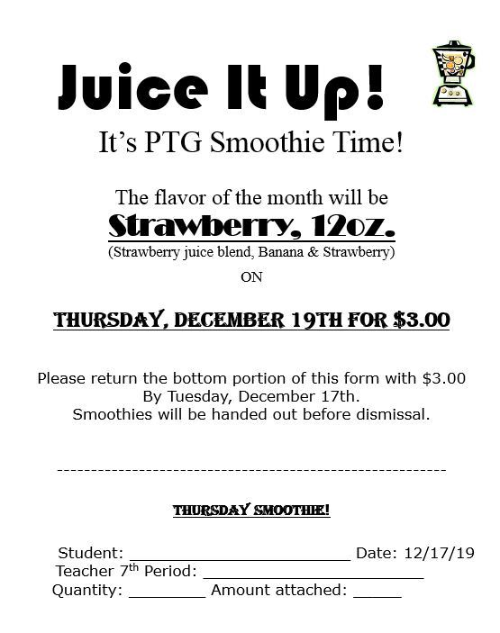 Juice It Up Smoothie Flyer