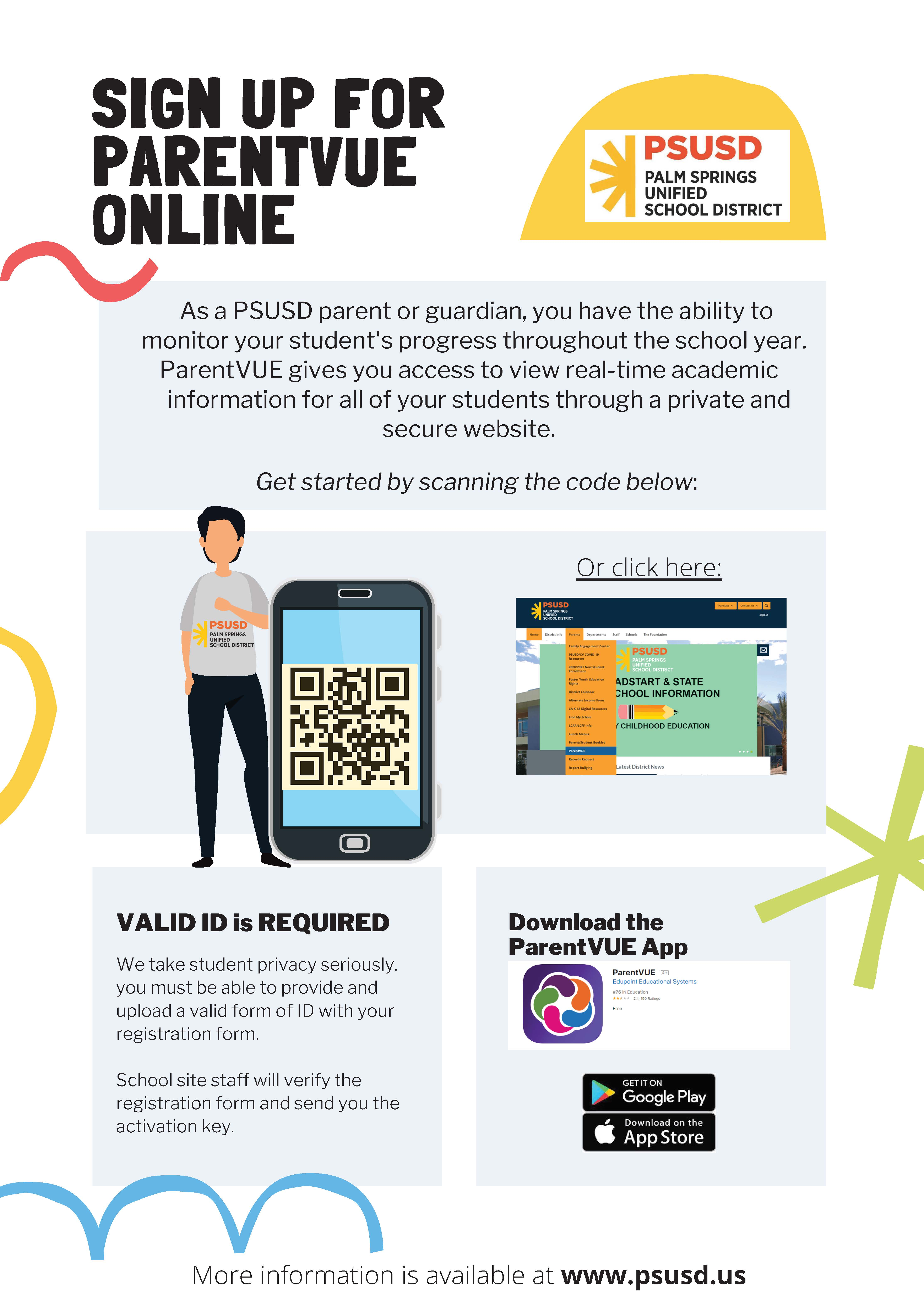Sign Up for ParentVue Online