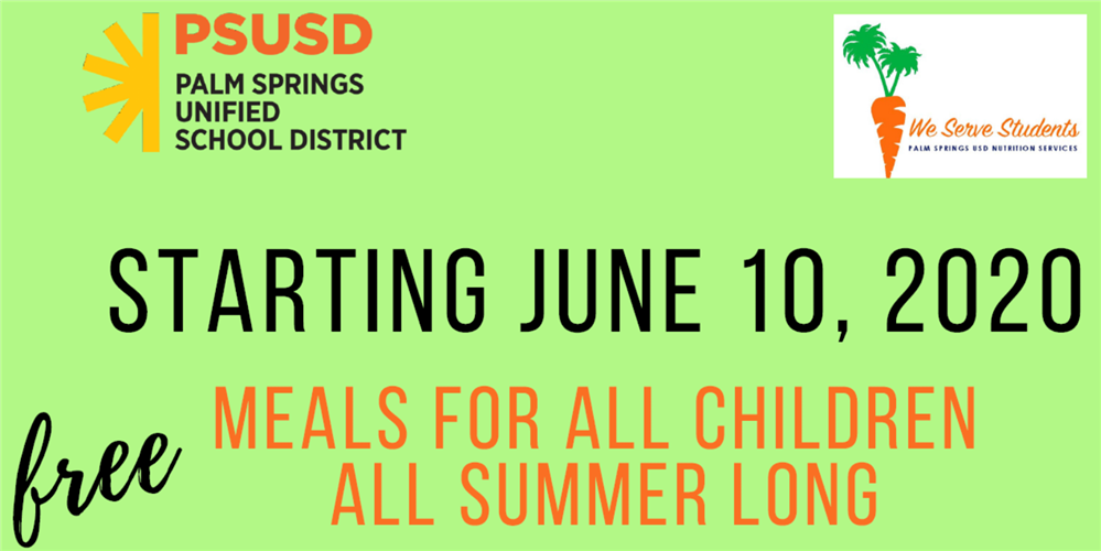 Summer: Meals for ALL Children