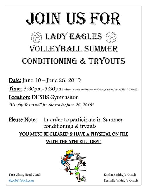 VB Tryouts & Conditioning