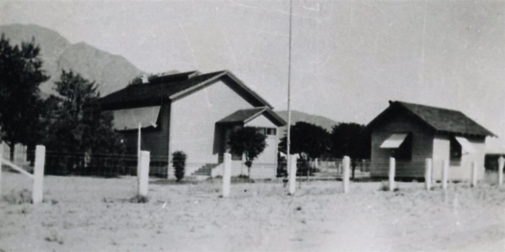 The first school building in Palm Springs
